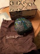 Judith Leiber - Iconic Vintage Minaudiere Crystal Dragonfly Stained Glass Bag
