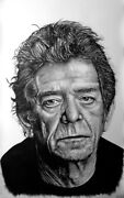 Lou Reed - Big Portrait Graphite And Charcoal Cm. 75 X 120
