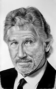 Roger Waters - Big Portrait Graphite And Charcoal Cm. 75 X 120