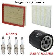 Tune Up Kit Air Cabin Oil Filters Spark Plugs For Ford Fusion L4 2.0lturbo 2016