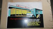 3- Extremely Rare 1950s Brewers Retail Vinyl Advertising Signs Not Porcelain