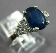 Estate Wide 1.77ct Diamond And Aaa Sapphire 14kt White Gold Double Halo Love Ring