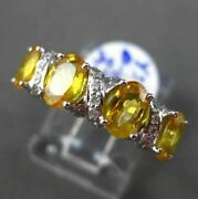 Antique 1.37ct Diamond And Aaa Yellow Sapphire 18kt White Gold 4 Stone Love Ring
