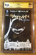 Batman 9, 1200 Bandw Sketch New 52, Cgc 9.6 2x Ss, Signed Snyder And Capullo, Nm+