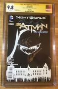 Batman 9, 1200 Bandw Sketch New 52, Cgc 9.8 2x Ss, Signed Snyder And Capullo, Nm/mt