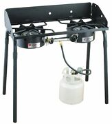 2-burner Stove Camping Cooking Outside Power Outages Family Rugged Everyday Use
