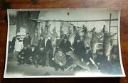 Vintage Photo - Hunters With Row Of Deer 11 Early 30s Socony Sign 8 3/4 X 5