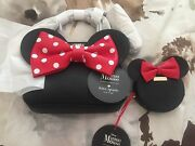Nwt Kate Spade Minnie Mouse Red Bow Maise Crossbody And Coin Purse
