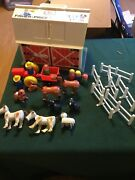 Vintage Fisher Price Little People Play Family Farm 915 Huge Lot