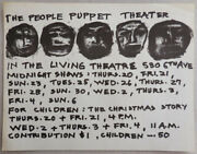 Living Theatre The People / Living Theatre Flyer For The People Puppet 1st Ed