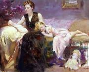 Pino Precious Moments Giclee On Canvas Hand Signed And Numbered 36 X 48 Coa