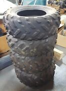 Used Yamaha Grizzly 700 Oem Dunlop Tires Front And Rear Set Of 4