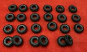 Very Small Treaded Tires For Dinky 60's, Misc., Black, 14mm, Lot Of 24, New