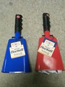 Lot Of 7 Wembley Tailgate Red And Blue Game Time Cowbell W /bottle Opener