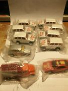 Lot Of 9 Getty And 1 Gulf Hot Wheels Gas Station Give Away Cars In Bag