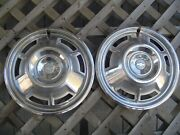 Two 1967 67 Chevrolet Chevy Camaro Vintage Hubcaps Wheel Covers Center Caps