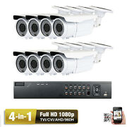 8ch Hdmi Dvr Sony Cmos 2.6mp 4-in Bullet 1080p Security Camera System System Vxz