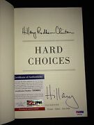 Hillary Clinton Presidential Signed/auto Book 2014hard Choices 16 Campaign Psa