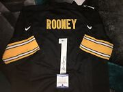 Dan Rooney Signed Pittsburg Steelers Jersey Hall Of Fame Owner Beckett