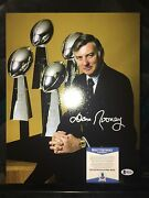 Dan Rooney Signed Pittsburg Steelers 11x14 Super Bowl Champs Owner Beckett