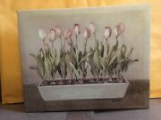 Danhui Nai Tulips In A Planter Canvas Painting