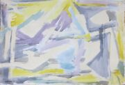 Murray Hantman 1951 Abstract Expressionist Mid-century Painting Maine Artist