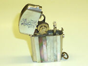 Dubsky Record Semi-automatic Lighter With Mother Of Pearl - 1910 - Austria