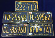 Lot Of 5 Pennsylvania License Plates From The 1960and039s-1970and039s-1990and039s