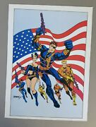 Vintage Marvel Comics Nick Fury Agent Of Shield, Pin-up Poster, Steranko, 1978