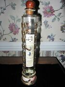 Sempe Armagnac Tallclear Glass Gold Eagle Decanter Bottle Leading Imports