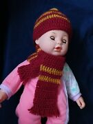 Harry Potter Hogwarts Griffindor Baby Hat And Scarf Newborn Photography Props