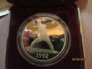 1992 S Silver Dollar Proof Olympic Commemorative Coin Never Out Of Velvet Case