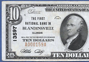 Il 1929 10 ♚♚ Blandinsville Illinois ♚♚ Only 3 Known Very Rare