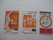 Vintage Badminton And Lawn Volleyball Rules And Info Card