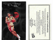 Tim Duncan 1997 Signed Wake Forest 1 Pick Press Pass Oversized Card /300 W/ Coa