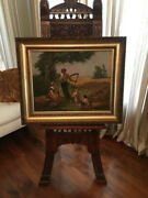 Holiday Sale -- Antique Charles Labarre Oil Painting Masterpiece
