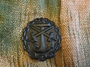 Wwi German Naval Wound Badge In Black Imperial Brand New Quality Reproduction