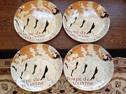4 Sango Cabernet 11 X 10 Oval Dinner Plates Dishes 4870 Jane Avril Collectors