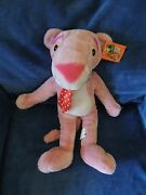 Kelly Toy Pink Panther Large 19 Cartoon Plush Stuffed Neck Tie Tag