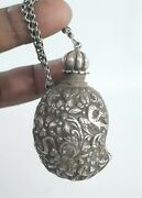 Indian Antique Mughal Silver Mango Snuff/treasure Box Rare Collectible.g10-51 Us