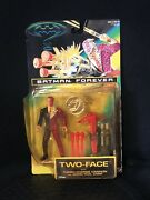 Dc Comics Batman Forever Two-face Figure W/ Coin And Turbo Charge Cannon New