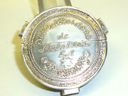 Vintage Mexican Sterling Silver Lighter Catholic Medal Guadalupe De Mexico 1701