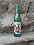 Old 1960's Fresh Up With 7-up Green Glass 10 Oz Bottle You Like It Likes You