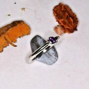 Uk Made Round Cut Amethyst Ring Solid Sterling Silver Size S
