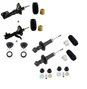 For Honda Cr-v 05-06 Front And Rear Shock Absorbers Mounts Sleeves Kyb Excel-g Kit