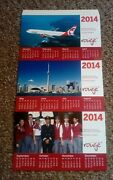Air Canada Rouge Build Your Own Desk Calendar 2014 - Brand New And Unused