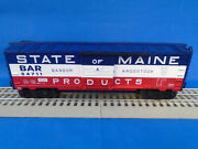 Lionel 6-84709 Lionchief O-scale State Of Maine Boxcar Nh New Haven