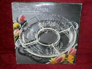 Colony Crafts Crystal Fleurs 13 Inch 5 Part Crystal Relish Dish New