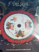 Christmas Traditions Counted Cross Stitch Kit 9 Tree Skirt Train Table Top New