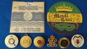 Vintage Lot New Orleans Mardi Gras Items Krew Pinbacks View Master Medal And More